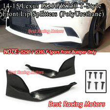 T Style Front Lip Splitters Fits 14-16 IS200T IS250 IS300 IS350 (F-Sport Only)