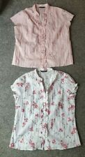 2 WOMENS BLOUSES SIZE 16 PINK AND WHITE