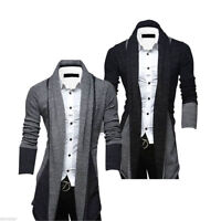 Men's Casual Slim Fit Knit Cardigan Stylish Sweater Coat Jacket Tops Knitwear