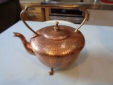 Antique Victorian anglais Benham & Froud Cuivre Bouilloire Arts and Crafts martelé