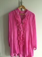 Woman's obsession silk ruffle top NWT