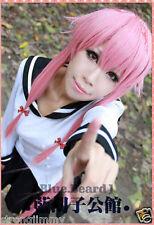 65cm The Future Diary Gasai Yuno Cosplay Costume Anime Wig S986