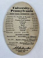 University of Pennsylvania Quakers 1929 Football Schedule Spalding Penn Vintage