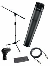 Shure*SM57-LC+STAND+CABLE Bundle*Microphone Boom Stand+XLR Cable+Clip+Bag NEW
