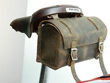 Genuine Leather Bicycle Saddle Bag Utility Tool Box kit bike vintage Look