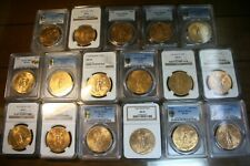1921-47 GOLD 50 PESOS COMPLETE SET GRADED MS-64's UP TO MS-66's<>INCLUDES 1931/0