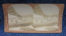 Norway mountain snow in summer, Singley Stereoview