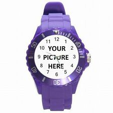 Plastic Sports Watch Custom Personalized YOUR PICTURE PHOTO! MORE COLORS!