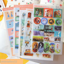 5 sheet Daddy long legs notebook calendar stationery Sticky notes diary stickers
