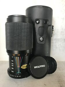 Vintage Wolfpro Japan 75mm-200mm Auto Macro Zoom Lens With Case