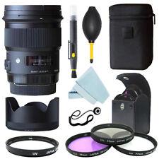 Sigma 50mm f/1.4 DG HSM Art Lens for Nikon Cameras + Filter Kit + Accessory kit