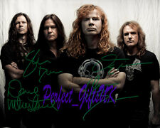 Megadeth Band Signed Autographed 10x8 Repro Photo Print Dave Mustaine Ellefson