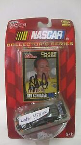 Rare Nascar Collector's Ken Schrader Autographed Pontiac 1:64 Diecast NEW dc1420
