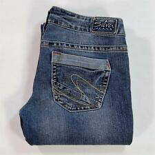 Silver Jeans Tuesday Women Low Rise Boot Cut Stretch Distressed Size 29