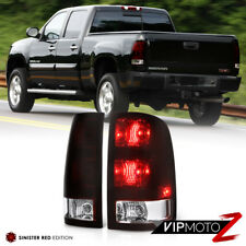 2007-2013 GMC Sierra [DARK WINE RED] Rear Brake Tail Lights Assembly LEFT+RIGHT