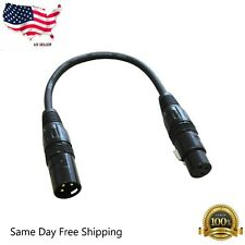 E02101 1ft XLR 3-Pin Male to Female Shield Microphone Mic Extention Cable Cord