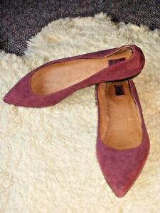 Frye Womens Carson Purple Ballet Flats Size 7.5 M Worn Once!
