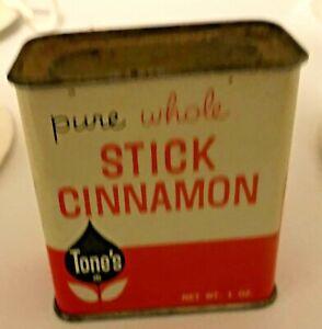 Tone's Stick Cinnamon Orange And White  Spice Tin