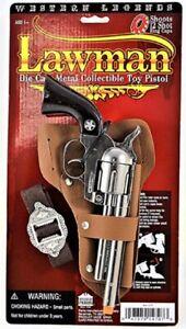 Toy Cap Gun Western Legends Lawman Die Cast Metal Cap Pistol Toy Theater Prop