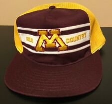 Vintage 80s Minnesota Golden Gophers Gold Country Americap Snapback Hat Football