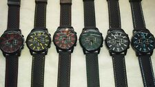 Job lot 24 pcs Mens Boys Black Sport GT Watches new wholesale Lot A