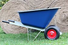 OX TWIN WHEELBARROW 200 Litre Stable Garden Wheel Pneumatic Large 200L Barrow