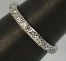 Edwardian 0.70 Carat Diamoncd 18ct White Gold Full Eternity Stack Ring d0474