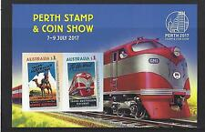 AUSTRALIA 2017 PERTH COIN AND STAMP SHOW MINIATURE SHEET UNMOUNTED MINT, MNH