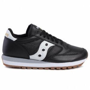 Scarpe uomo Saucony Jazz Original S70461 1 nero bianco pelle sneakers sportiva