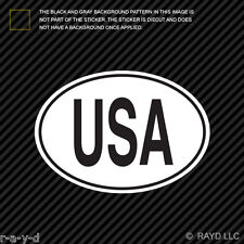 USA American Country Code Oval Sticker Decal Self Adhesive America united states