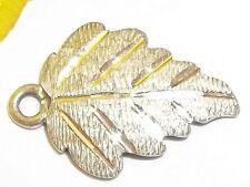 Vintage Sterling Silver Leaf Charm Fall Season Jewelry Estate WM Co Traditional