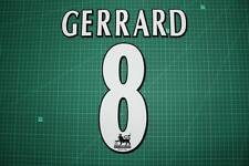 F.A. Premier League Player Size Name & Numbering Printing #8 GERRARD