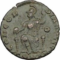 Gratian 378AD Rare Ancient Roman Coin Roma seated with globe & spear i39483