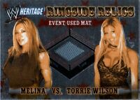 WWE Melina Torrie Wilson 2006 Heritage Chrome Relic Event Used Mat Card DWC2