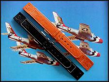 16mm Open End Gen Pigskin Vintage style Wire Lug watchband IW SUISSE 18-20 XL OE