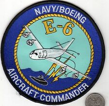 US Navy Boeing Aircraft Commander Submarine E6 Patrol Patch P3 Ocean Search