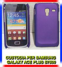 Pellicola + custodia back cover VIOLA per Samsung Galaxy Ace Plus S7500 (H8)