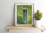 Green Nature Collage Artwork Home Decor Art 8x10 by AdrianaRabyArt Trees