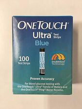 NEW One Touch Ultra Blue Diabetic Glucose 100 Test Strips Exp 06/2017 + FREE LAN