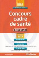 CADRE DE SANTE - TOUT-EN-UN - BADIA JABRANE - CONCOURS 2017 - LIVRE STUDYRAMA