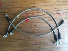 Suzuki Jimny extended brake hose set. Stainless steel braid.  Llama 4x4