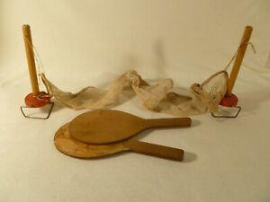 Vintage Ping Pong Set: net & paddles