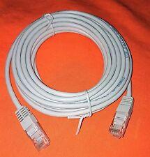 4M Ethernet Grigio Chiaro Cavo di rete Cat5e RJ45 PATCH