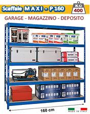 Scaffali Ferro 160 cm per Garage e Magazzino - Ripiani 400 Kg