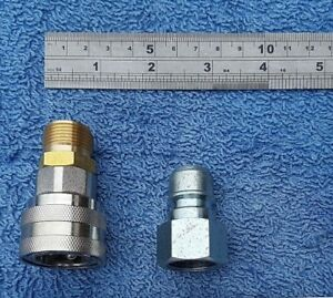 PRESSURE WASHER JETWASH CONVERT KARCHER SCREW FITTING TO QUICK RELEASE COUPLING