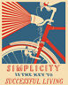 Simplicity bike VINTAGE RETRO ADVERTISING ENAMEL METAL TIN SIGN WALL PLAQUES