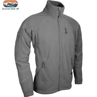 Viper Special Ops Fleece Jacket Mens Tactical Sweater Coat Titanium