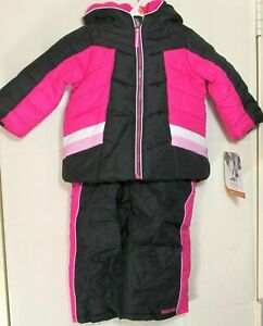 Pacific Trail - Girls 2 pc Snowsuit (Bibs Pants and Jacket Coat) 12 Months - New