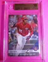 2018 Topps Now Juan Soto Nationals Rookie Card #337 BGS 10 PRISTINE Rare low pop