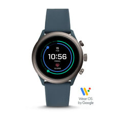 Fossil Men's Sport Metal and Silicone Touchscreen Smartwatch_Smoke Blue (Sealed)
